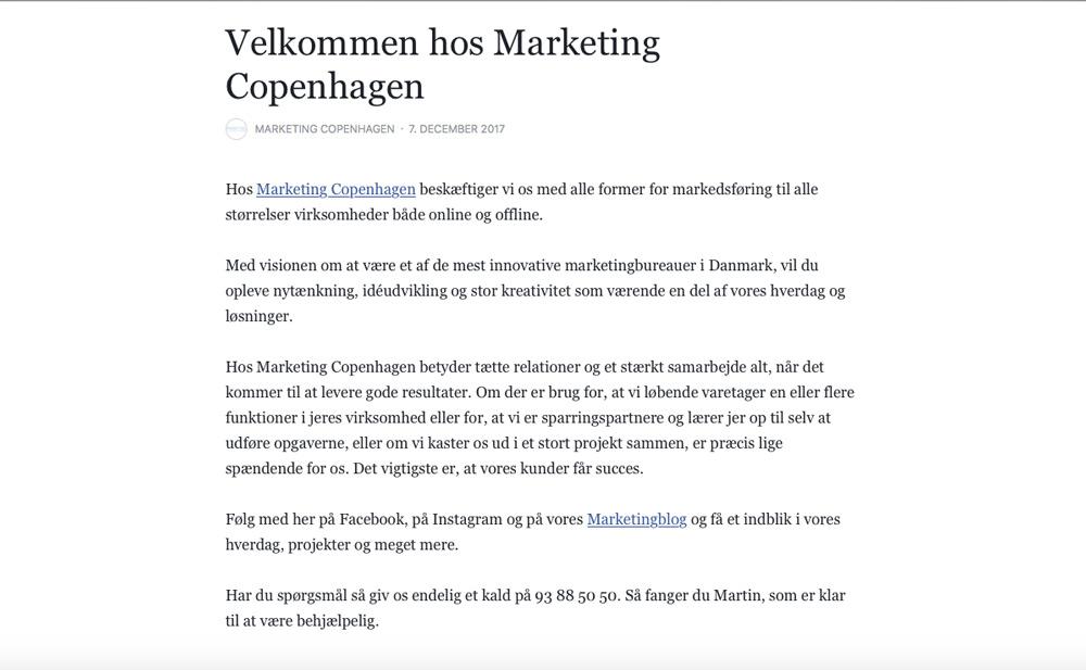 marketing copenhagen, facebook, sociale medier, social media, digital, markedsføring, marketing